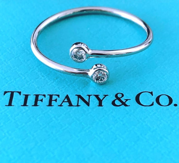 Tiffany & Co. 0.10tcw Diamond / Platinum PT950 Elsa Peretti Wrap Ring RRP $1950