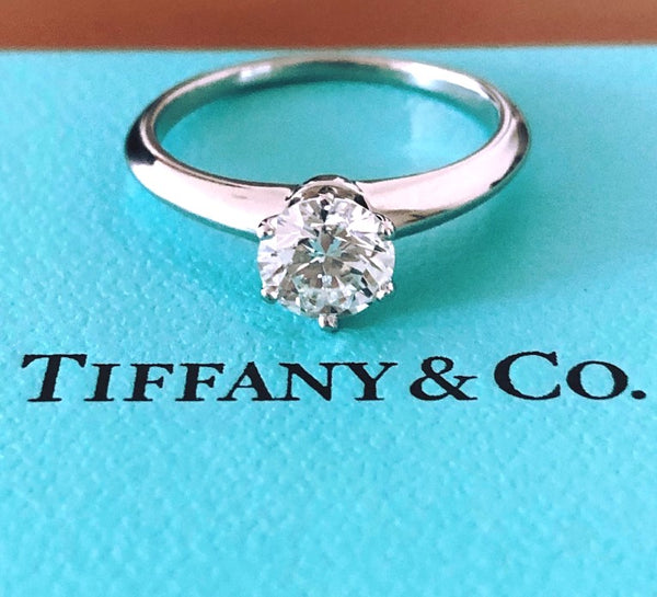 Tiffany & Co. 0.74ct I/VS2 Diamond Solitaire Engagement Ring PT950 Cert/Val/Rcpt