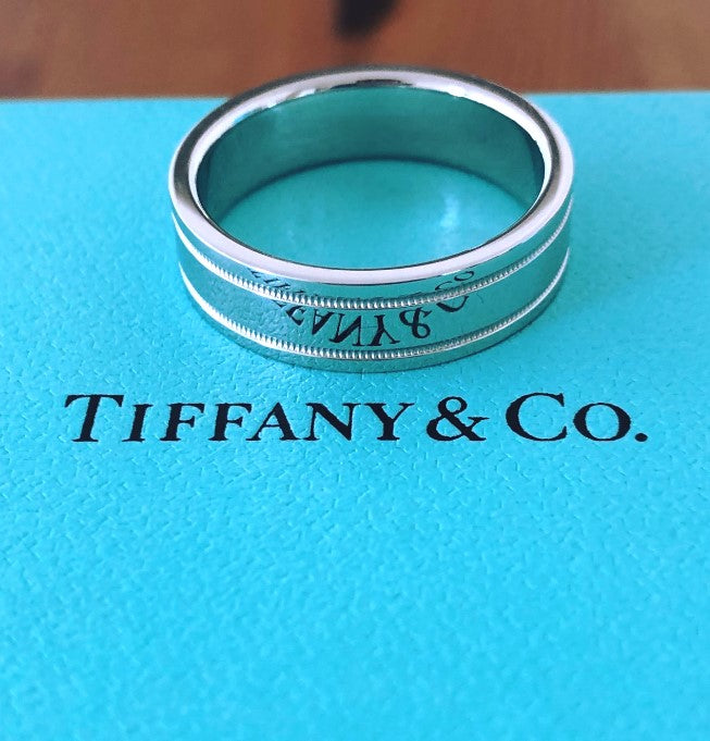 Tiffany & Co. 6mm Platinum Mens Band NEVER WORN RRP $4050 Size 10 Receipt/Boxes