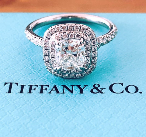 Tiffany & Co. 1.38tcw H/VS1 Diamond Soleste Engagement Ring Cert/Val/Rcpt/Boxes