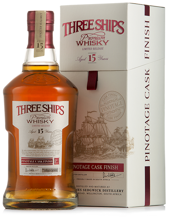 Three Ships 15 Y.O. Pinotage Cask Finish - Vinotèque - 1