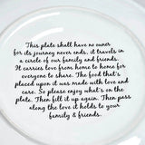 "Ceramic Platter ""The Giving Plate"" Large 12"" gift boxed"