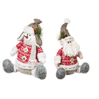 "Nordic Christmas Snowman or Santa 10"" decor"