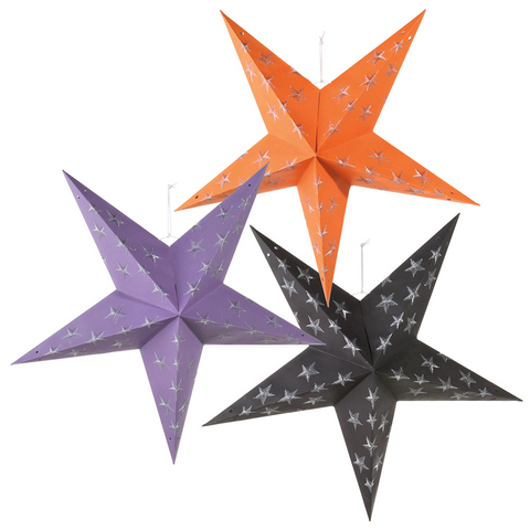 Pentagram 5 Point Paper Star Ornament (3 asstd)