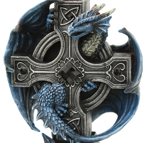 Dragon Cross Candle Holder