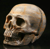Picasso Jasper natural crystal skull - Cast a Stone
