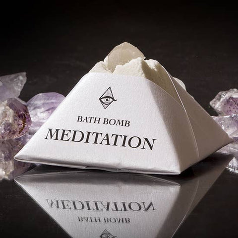 Meditation Bath-bomb with Charged Crystal