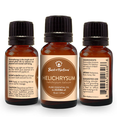 Helichrysum Essential Oil Blended with Jojoba Oil