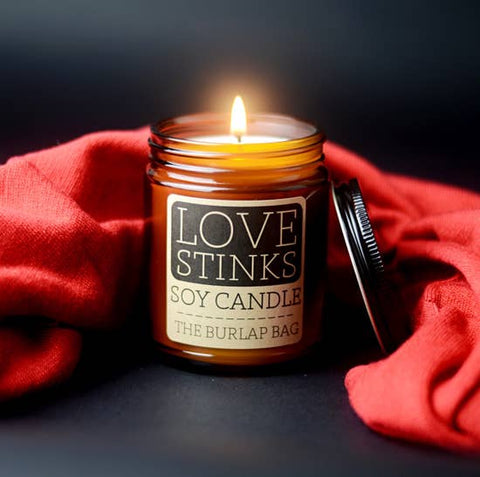 Love Stinks Soy Candle 9oz LIMITED EDITION