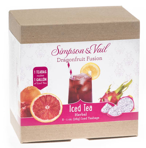 Dragonfruit Fusion Herbal Fruits Iced Teabags (8/box)