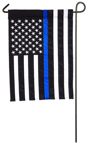 Thin Blue Line Garden Applique Flag
