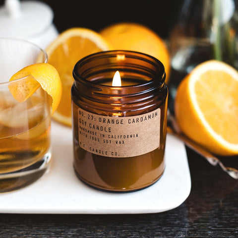 NO. 27: ORANGE CARDAMOM - 7.2 OZ STANDARD SOY CANDLE