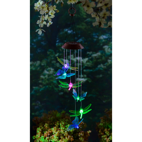 Color Changing Dragonflies & Butterflies, Solar Mobile