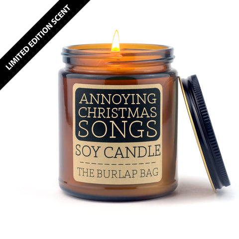 Annoying Christmas songs 9oz soy candle - SEASONAL