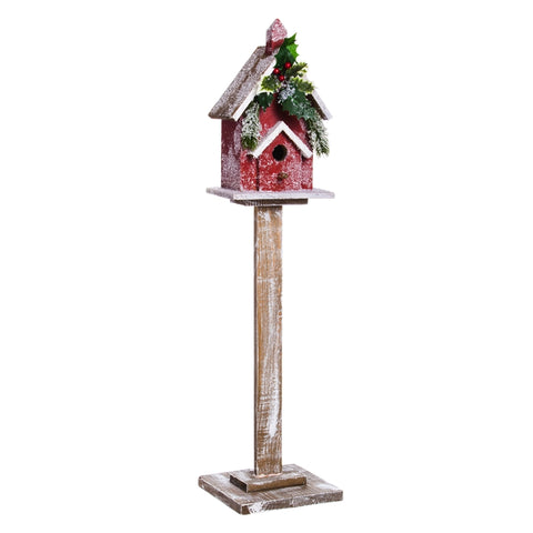 Holiday Retreat Pedestal Birdhouse CLEARANCE