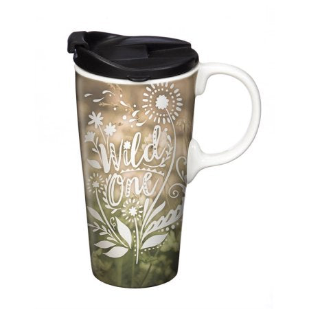 Ceramic Travel Cup, 17 OZ. w/Box, Wild One