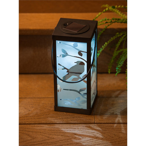 Silhouettes Frosted Solar Lantern