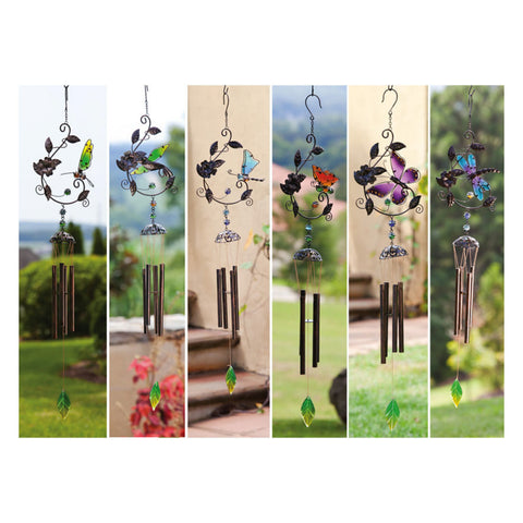 Garden Flutter Windchime Assortment, 6 assorted
