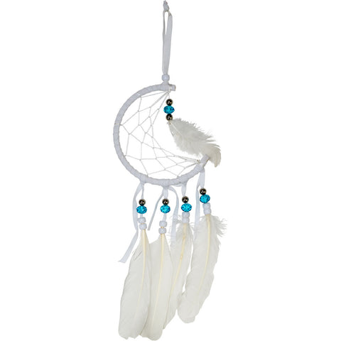 Half Moon Dreamcatcher - White