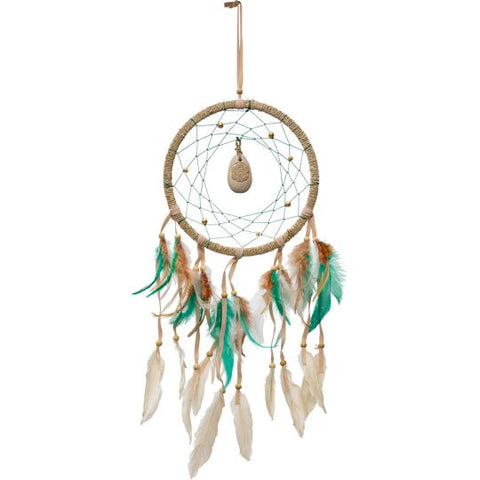 Dreamcatcher Natural River Stone Flower of Life
