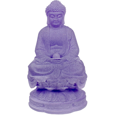Frosted Acrylic Meditating Buddha - Purple