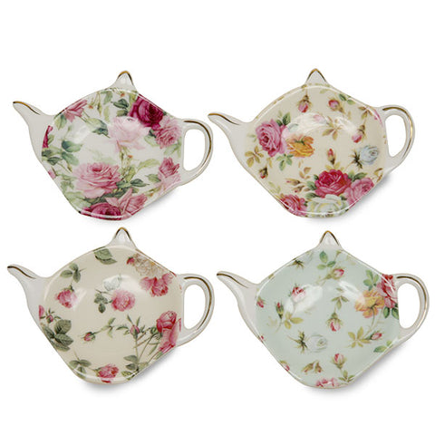 Assorted Rose Chintz Tea Bag Holder