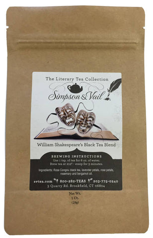 William Shakespeare's Black Tea Blend - 1oz