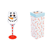 Snowman Wine Glass w/ Box, 12 oz.