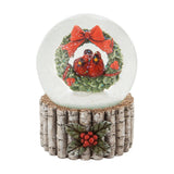 Cardinal and Wreath Water Globe