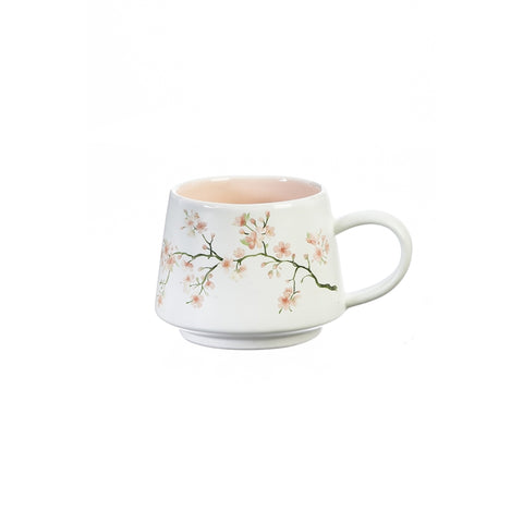 Ceramic Cup w/ Gift Box, 12 OZ, Cherry Blossom