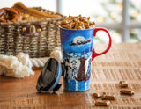 Ceramic Travel Cup, 17 OZ. w/box, Christmas Dogs