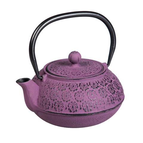 Purple Cast Iron Teapot