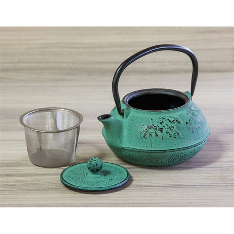 Cast Iron Teapot, Teal