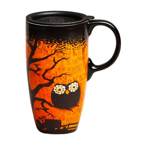 Nighttime Owl Travel Latte Cup