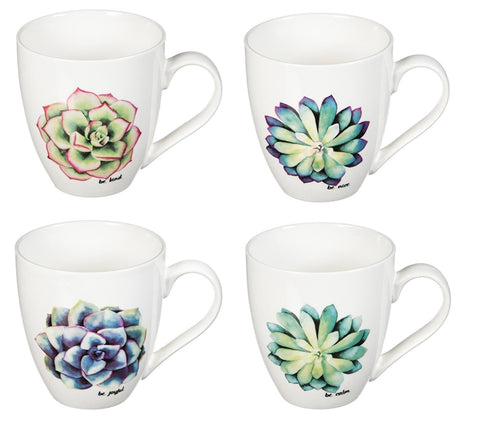 Ceramic Cup O' Java, 18 OZ. Tropical Plant, 4 different styles