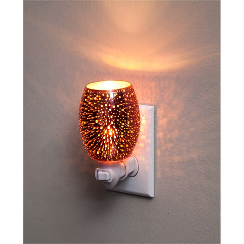Stargazer Copper Glass Nightlight with Switch Adapter - Cast a Stone