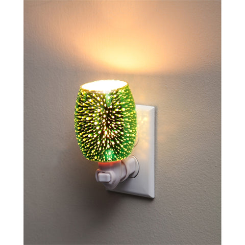 Stargazer Green Glass Nightlight with Switch Adapter - Cast a Stone