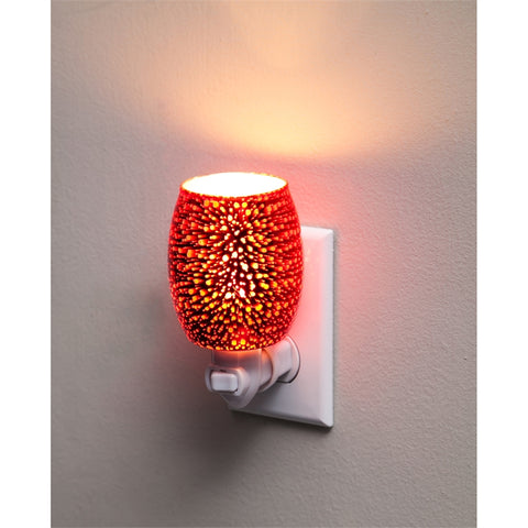 Stargazer Red Glass Nightlight with Switch Adapter - Cast a Stone