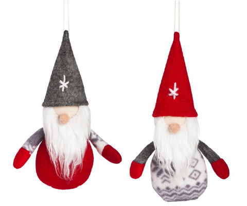 Nordic Winter Santa Gnome Plush Ornament