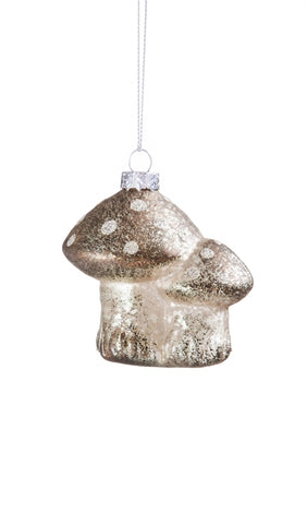 Mushroom Glass Ornament - 2 ASST CLEARANCE
