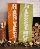 Reversible Wooden Mantel/Wall Sign, Set of 2, Harvest/Halloween - Cast a Stone
