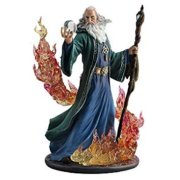 Elemental Adept Evocation Wizard Statue