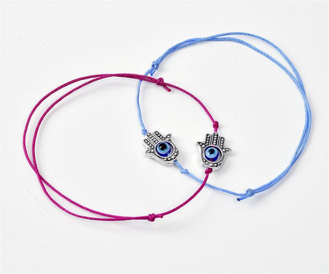 Hamsa hand of Protection Charm Bracelet