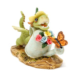 Mini Girl Dragon Emberz with Watering Can and Butterfly Figure