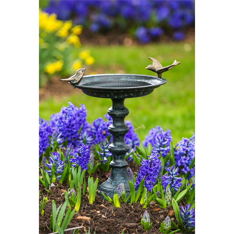 Cast Iron Bird Bath on Pedestal