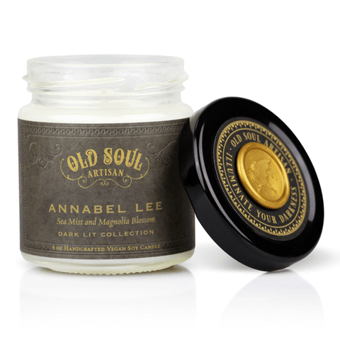 Annabel Lee Soy Candle - Poe Literature Inspired Gift  4 Oz