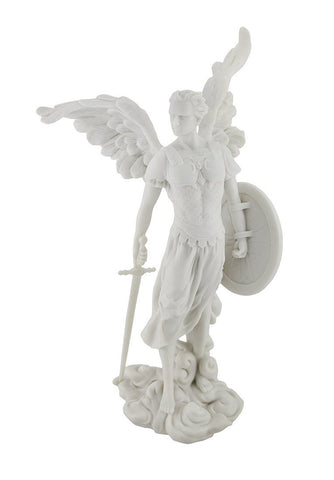 "Archangel St. Michael Statue - 13.5"" Marble Finish"