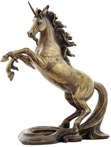 Unicorn Bronze Color Statue Figurine