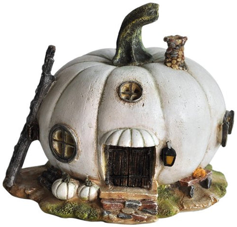 White Pumpkin Fairy Garden House