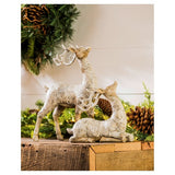 White Polystone Birch Bark Reindeer Décor CLEARANCE